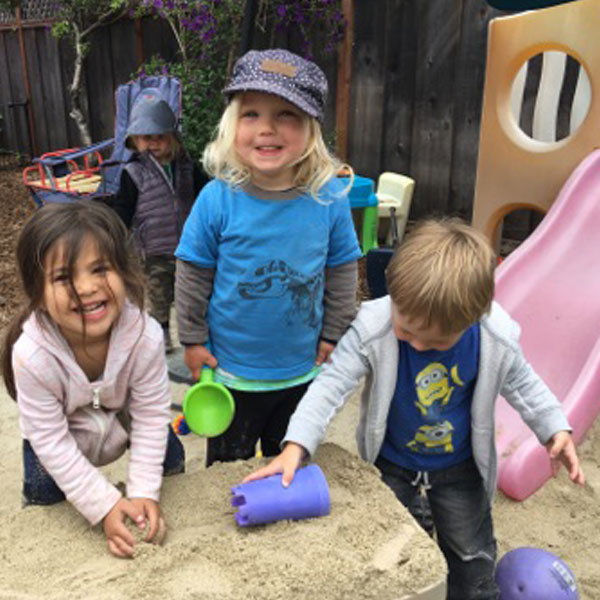 There's a sandbox for the little ones
